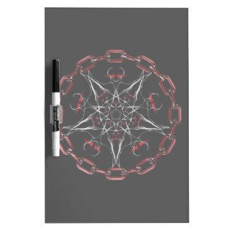Morning Star Gothic Fractal Art Dry-Erase Board