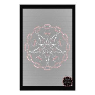 Morning Star Gothic Fractal Art Stationery