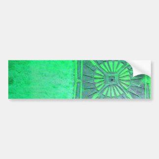 MORNING STAR Light Green Monogram Bumper Sticker