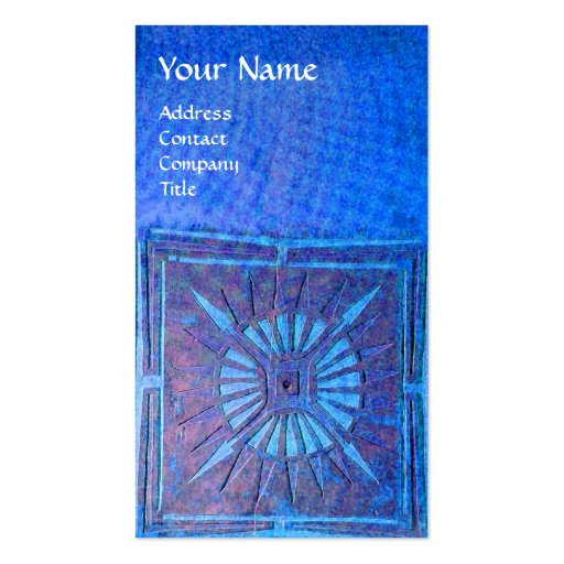 MORNING STAR , MONOGRAM Double-Sided STANDARD BUSINESS CARDS (Pack OF 100)