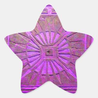MORNING STAR MONOGRAM ,pink violet,purple Star Sticker