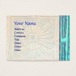 MORNING STAR , MONOGRAM,Teal,Blue green,Turquase Business Card