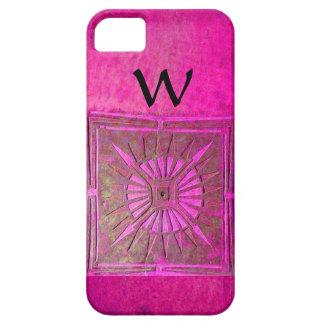 MORNING STAR , Pink,Black,Fuchsia Monogram iPhone SE/5/5s Case