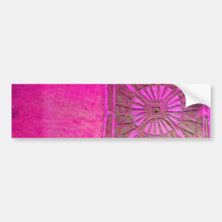 MORNING STAR Pink,Fuchsia Black, Monogram Bumper Sticker