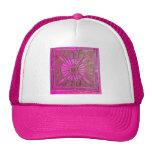 MORNING STAR Pink,Fuchsia Black, Monogram Hats