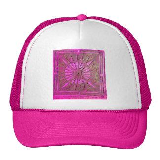 MORNING STAR Pink,Fuchsia Black, Monogram Trucker Hat