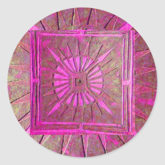 MORNING STAR ,pink violet Classic Round Sticker