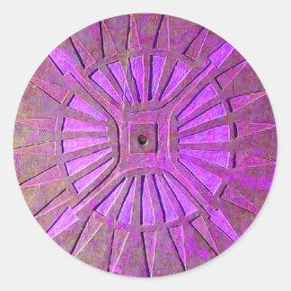 MORNING STAR ,pink violet,purple Classic Round Sticker
