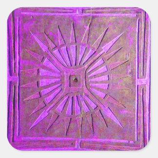 MORNING STAR ,pink violet,purple Square Sticker
