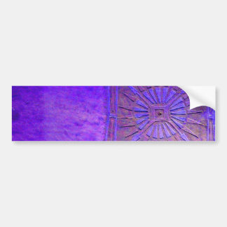 MORNING STAR Purple Blue, Monogram Bumper Sticker
