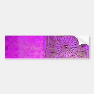MORNING STAR Purple Violet, Monogram Bumper Sticker