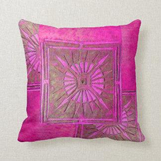 MORNING STAR ,Purple,Violet,Pink ,Fuchsia Throw Pillow