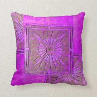 MORNING STAR ,Purple,Violet Throw Pillow