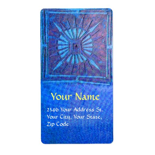 MORNING STAR , red ,brown Shipping Label