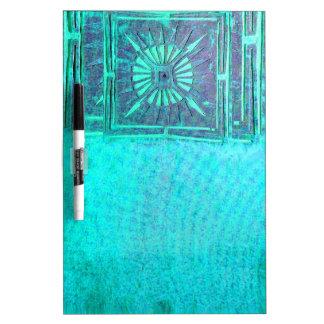 MORNING STAR  Teal Blue Dry Erase Board