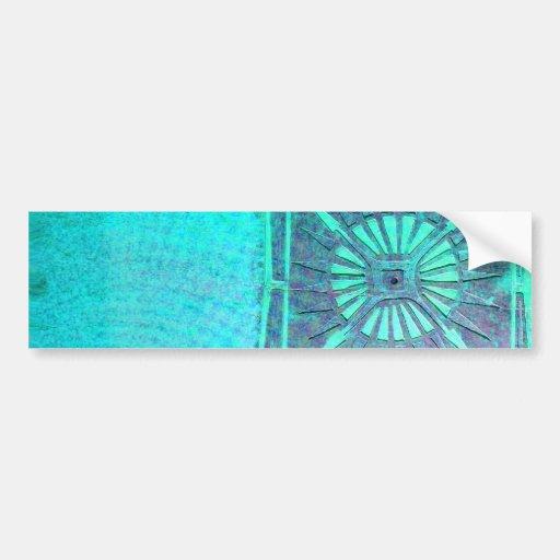 MORNING STAR  Teal Blue, Monogram Car Bumper Sticker