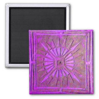 MORNING STAR ,violet purple 2 Inch Square Magnet