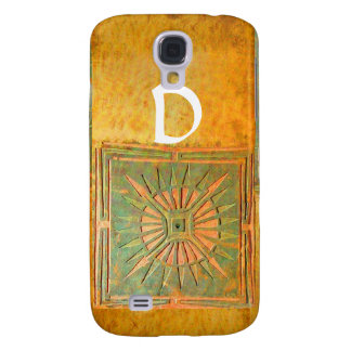 MORNING STAR ,Yellow,Brown,White Monogram Samsung Galaxy S4 Cover