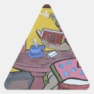 morning start  (in yellow) triangle sticker