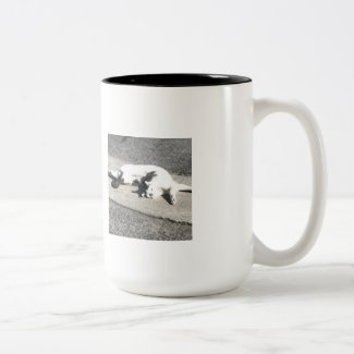 Morning Stretch Cat Coffee Mug