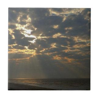 Morning Sun and Ocean Tile