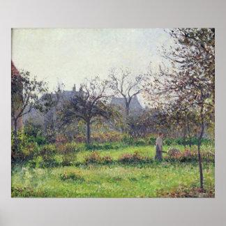 Morning Sun, Autumn, Eragny, 1897 Poster