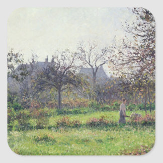 Morning Sun, Autumn, Eragny, 1897 Square Sticker