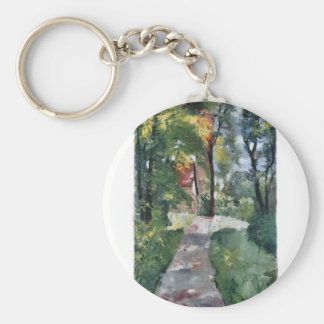 Morning sun by Lesser Ury Key Chain