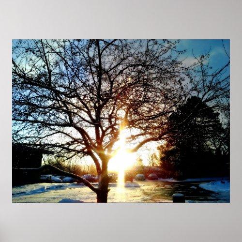 MORNING SUN CREATES THE CROSS poster