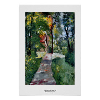 Morning Sun Lesser Ury impressionist painting art Poster