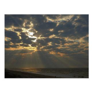Morning Sun on Ocean - Oak Island, NC Postcard