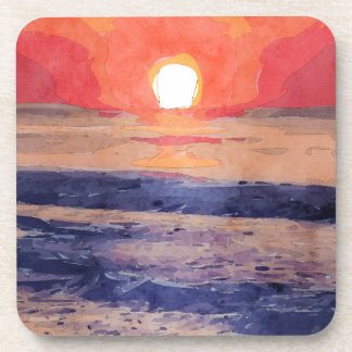 Morning Sun Over Atlantic Ocean Beverage Coasters