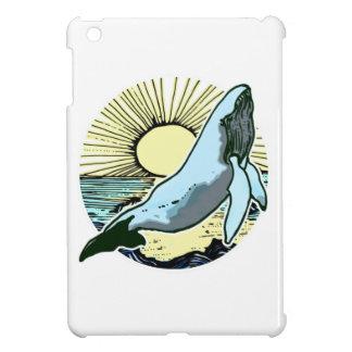 Morning sun whale 2 iPad mini cases