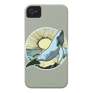 Morning sun whale 2 iPhone 4 case