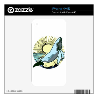 Morning sun whale 2 iPhone 4S decal