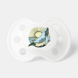 Morning sun whale 2 pacifier