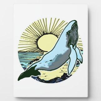 Morning sun whale 2 plaque