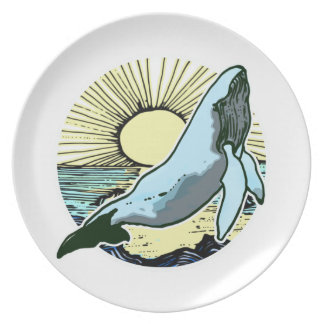 Morning sun whale 2 plate