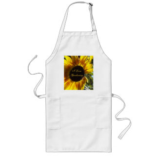 Morning Sunflower Customizable Long Apron