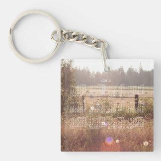 Morning Sunlight; 2013 Calendar Single-Sided Square Acrylic Keychain