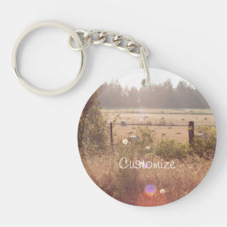 Morning Sunlight; Customizable Single-Sided Round Acrylic Keychain
