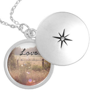 Morning Sunlight; Customizable Round Locket Necklace