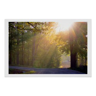 morning sunrays poster