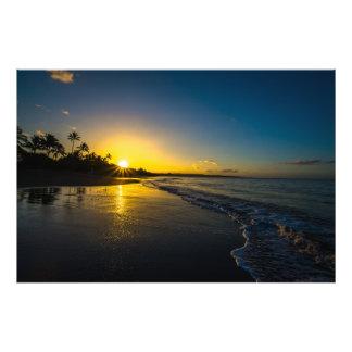 Morning Sunrise in Hawaii Photo Print