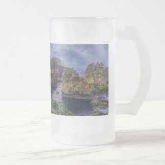 morning sunrise olympic peninsula Cape Flattery Frosted Glass Beer Mug