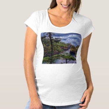Beach Themed morning sunrise olympic peninsula Cape Flattery Maternity T-Shirt