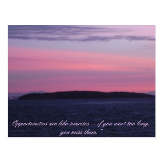 Morning Sunrise over Sucia Island Postcard