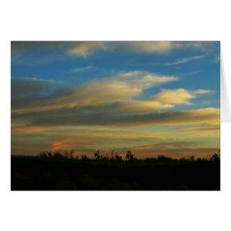 Morning Sunrise over the Desert Note Card