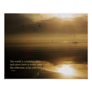 Morning Sunrise Reflection Quotation Print