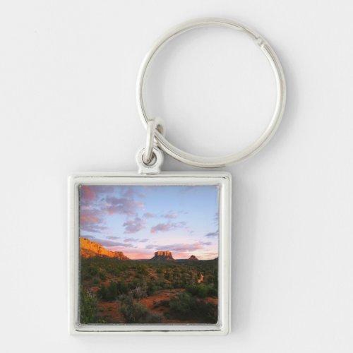 Morning Sunrise Sedona Arizona Desert Keychain